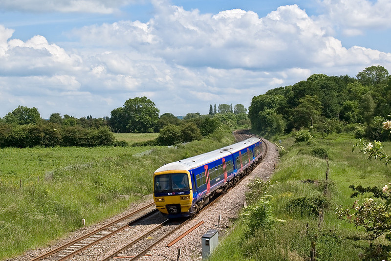 4th Jun 08:  FGW Turbo 165110 nears Midgham on a Reading to Newbury service
