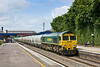 30th Jun 08: 66560 works the Theale to Earles empty cement tanks through Twyford