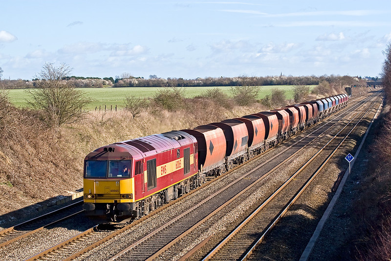 3rd Mar 08: 60065 'Spirit of Jaguar' with a mix of RMC and NP hoppers.  6C46 from Acton to Whatley.