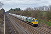 25th Mar 08:  The late running Theale to Earles cement empties with 66952 on the point at Shottesbrooke