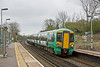 31st Mar 8:  377455 slows for the Glynde stop