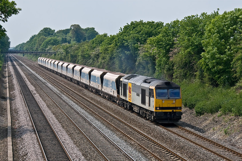 21st May 08: Unusual power for 7A17 is 60056 captured here at Shottesbrooke