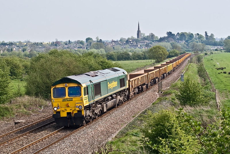 5th May 08:  66551 powers JNA's from Hinksey to Bordesley away from King's Sutton