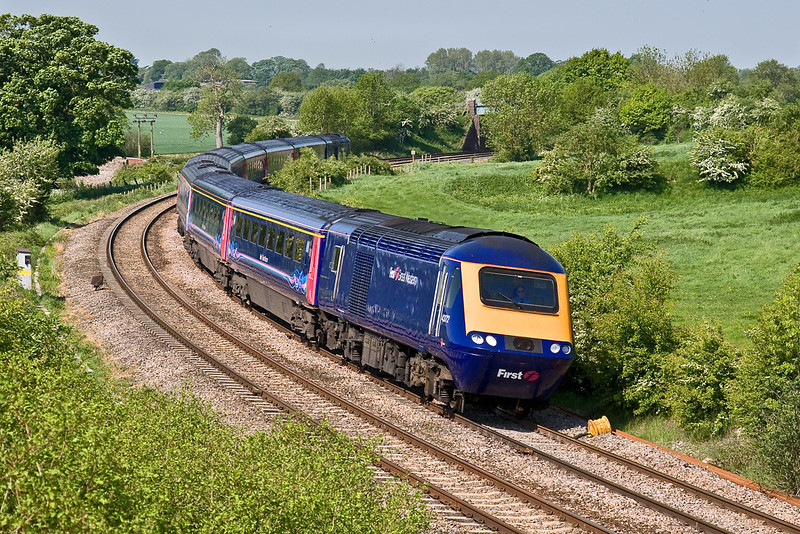 13th May 08:  Leaving Penzance at 05.05 43172 rounds the Crofton curve