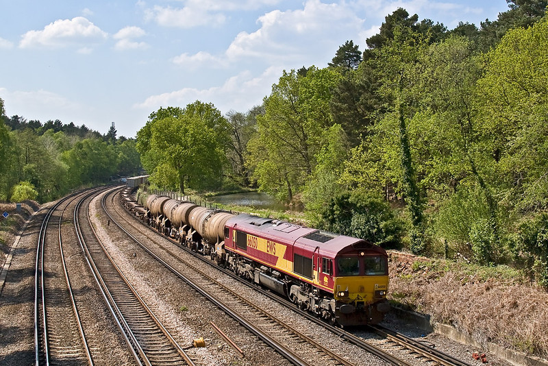 7th May 08:  66050 in charge of 6M44 the Eastleigh to Wembley Enterprise service