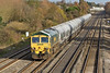 19th Nov 08: 6V94 the Earles to Theale cement in the hands of 66601 at Breadcroft Lane