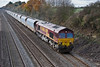 v20th Nov 08:  66152 is tasked with 6M20 to St Pancras from Whatley