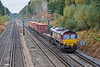 14th Oct 08: 66013 on a lightly loaded 6M44 Eastleigh to Wembley Enterprise service.  ISO 800 time again!
