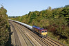 22nd Oct  08:  66035 is tasked with the morning Hinksey to Eastleigh Departmental and runs through Lower Basildon