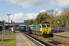31st Oct 08:  66541 clatters the Wentloog to Southampton through on the Relief at Tilehurst