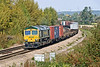 20th Sep 08: 66590 nears North Junction with 4O02 from Lawley Steet to Southampton