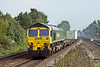 22nd Wep 08:  66531 hurries west through Tilehurst working 4M58 to Ditton