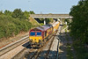 20th Sep 08:  With a monster ballast train 66146 is heading for the West chord at Didcot North