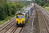 30th Sep 08: 66534 works 4M61 to Trafford Park through Lower Basildon.  Stopped raining.