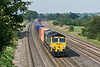 18th Sep 08:  Running well on the main is 66541 and the Wentloog to Southampton liner