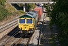 20th Sep 08: 4O54 from Leeds takes the East chord at Didcot North Junction