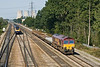 20th Sep 08:  The Hinksey to Eastleigh departmental in the hands of 66025.  It was travelling faster than the HST but not for long!