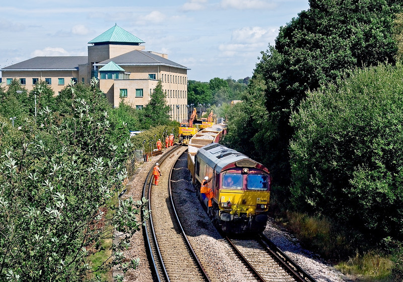 23rd Aug 09: The driver of 66180 gets some instructions perhaps.