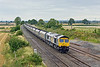20th Aug 09:  Fastline's 66301 charges through Elford with 6Z14 'Q' service from Immingham to Ironbridge Power Station.
