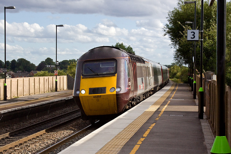 20th Aug 09:  1S55 runs from Plymouth to Edinburgh.  43207 is captured entering Tamworth High Level
