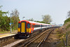 15th Apr 09:  Gatwick Express units 442421 & 410 run East though Glynde on a test run