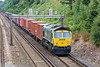 3rd Aug 09:  66573 is tasked with 4M58 from Southampton to Basford Hall at Crewe. Freightliners East of Basingstoke on the South Western Line are now down to only a couple a day.