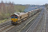 8th Dec 09:  If your work involves RHTT trains clean is something you are not!!    66081  wears very effective comoflage as it cruises through Lower Basildon  working 6B35 Lea Interchange to Moreton on Lugg empty JNAs  (1/640 @ f2.5, iso 800 Canon 50mm f1.4)