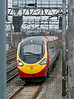10th Feb 09:  'Between the posts'  A Pendolino races north working the 13.02 to Manchester Piccadilli