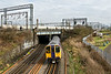 10th Feb 09:  The 13.17 from Euston to Watford passes under the WCML and starts the climb to Wembley Central