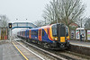 10th Jan 09:  Showing the unusual destination of Barnes 450565 arrives at Chertsey forming 2S30 11.03 Weybridge to Barnes