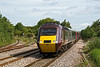 28th Jul 09:  Cross Country HST 43207 passes through Yate while working 1V46 the 06.32 York to Plymouth. Curving  away to the left is the rarely used branch to the quary at Tytherington