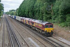 20th Jul 09:  An unusual consist for 66136 working 6M44 from Eastleigh to Wembley.  67003 and 37422 are along for the ride.