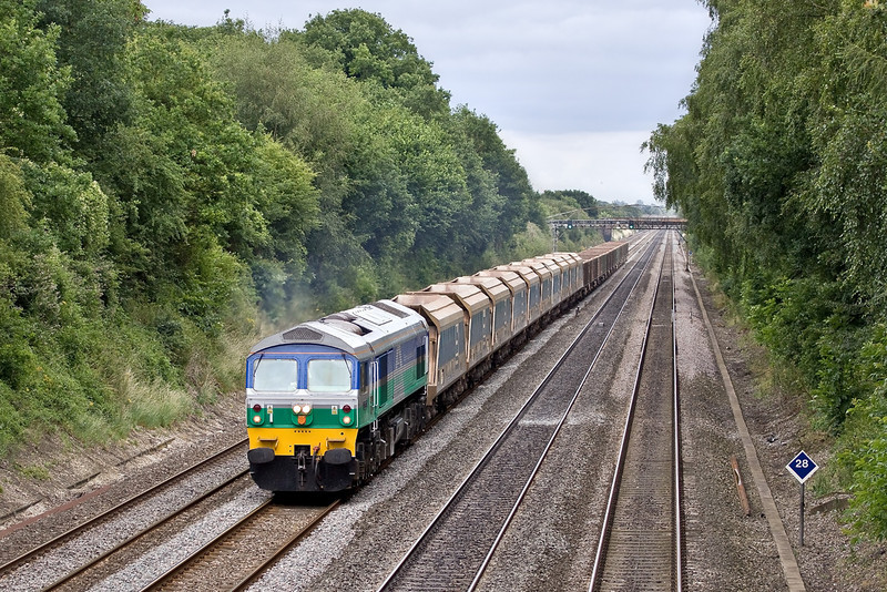 3rd Jul 09:  59005 Kenneth J Painter trundles 7C77 back to Merehead from Acton