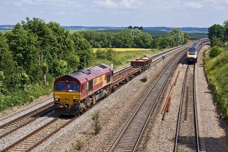 4th Jun 09: 6V27 to Hinksey powered by 66149 at South Moreton