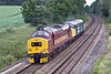 26th Jun 09: 40145 & 37401 run south through Silchester. The locos will be used on a railtour from Portsmouth to Penzance