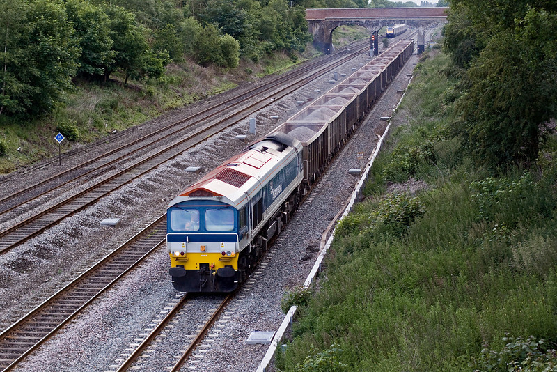 8th Jun 09:  7A15 the 16.11 from Merehead to Acton in the hands of 59103 frundles passed Southbury Lane in Ruscombe