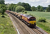 15th Jun 09:  Running through Silchester is 66078 and the Marchwood to Didcot  (6V38) MoD service