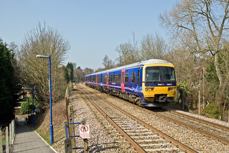 19th Mar 09: A Reading to Gatwick service at Sandhurst