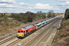 4th Mar 09:  In the new DB Schenker livery 59206 westbound with 6V18 empties from Hither Green to  Whatley. Southbury Lane, Ruscombe