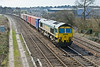 16th Mar 09:  The 09.34 from Southampton Millbrook to Leeds crosses Didcot North Junction with 66504 in charge