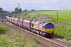 7th May 09:  66004 grinds through Docker on 4S04 the 13.30 from Warrington to Falkland Yard in Ayr