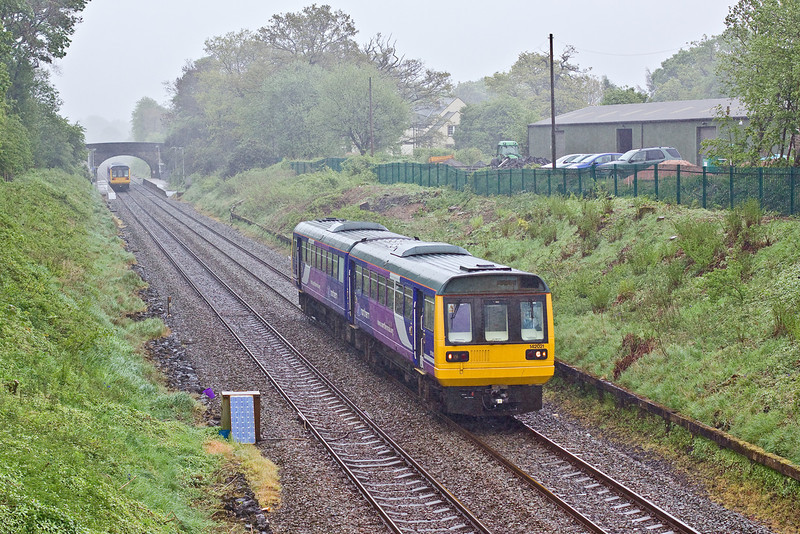 6th May 09:142021 leaves Pleasington on a Colne to Blackpool service and it is p.....ng down.