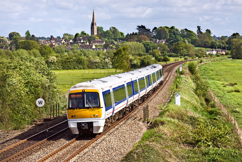 8th May 09:  165008 climbs away from Kings Sutton working 1G42 to Birmingham New Street
