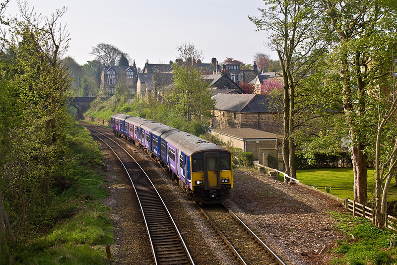 25th Apr 09: 150275 is about to cross 'The Stray' and on into Harrogate Station