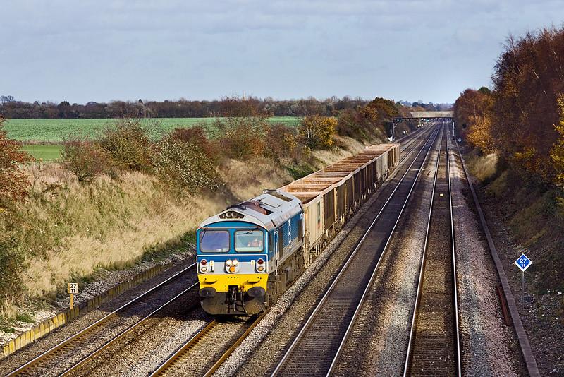 19th Nov 09:  59004 west bound on 7C77 at Shottesbrooke