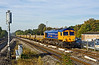 13th Oct 09:  In superb autmn light 66722 passes the old goods yard at Twyford while working 4L31 scrap sleepers from Taunton Fairwater Yard to Whitemoor CE Yard