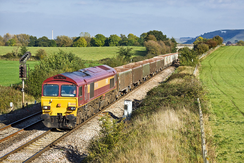 14th Oct 09:  59204 with JNA boxes nears Fairwood Junction