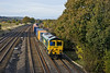 27th Oct 09:  66536 works the 05.40 from Garston, 4O27, along the Relief through Lower Basildon