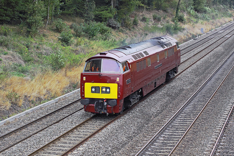 3rd Oct 09: Western class 52  D1015 at Duffield Road while working back to Eastleigh from OOC