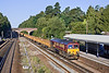 5tg Sep 09:  66177 runs through Winchfield with JNA empty ballast boxes. 6N04 is from Eastleigh to Worting via a run round at Woking